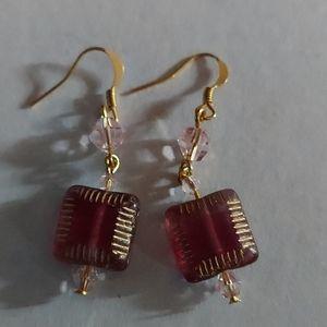 Earrings crystals nwot